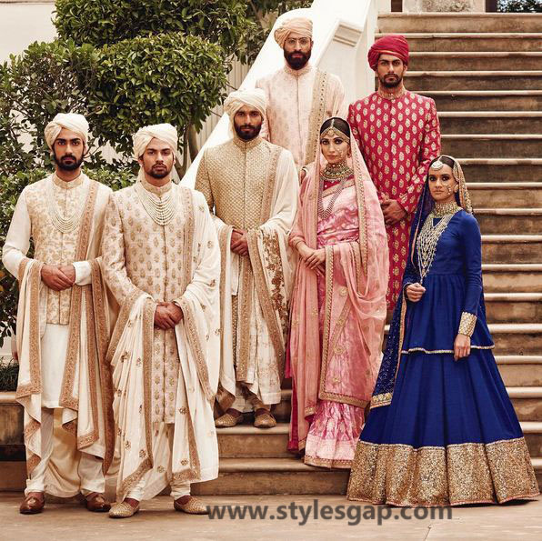 Sabyasachi Mukherjee Latest Wedding Dresses 2016-2017 Collection. Lehengas, Sarees (1)
