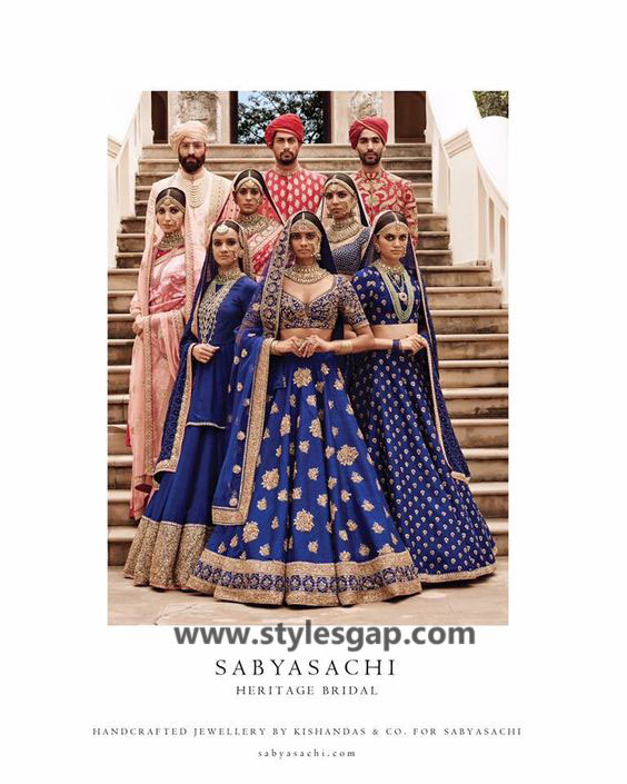 Sabyasachi Mukherjee Latest Wedding Dresses 2016-2017 Collection. Lehengas, Sarees (10)
