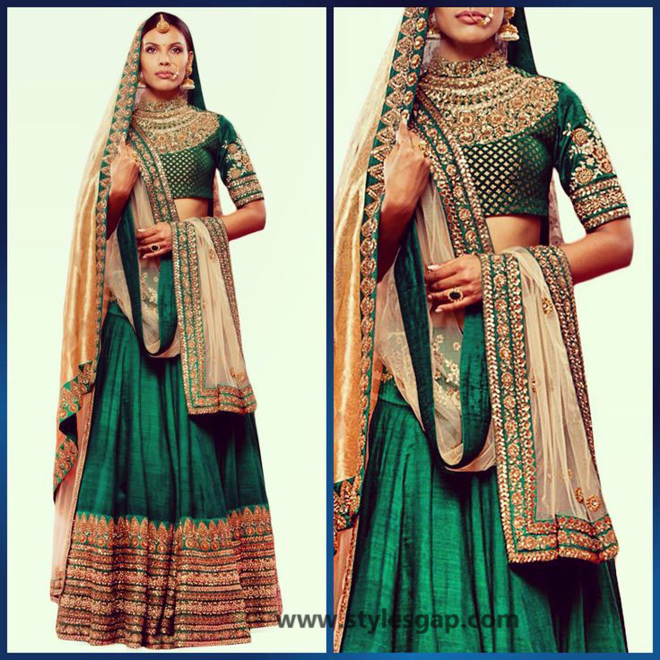 Sabyasachi Mukherjee Latest Wedding Dresses 2016-2017 Collection. Lehengas, Sarees (11)