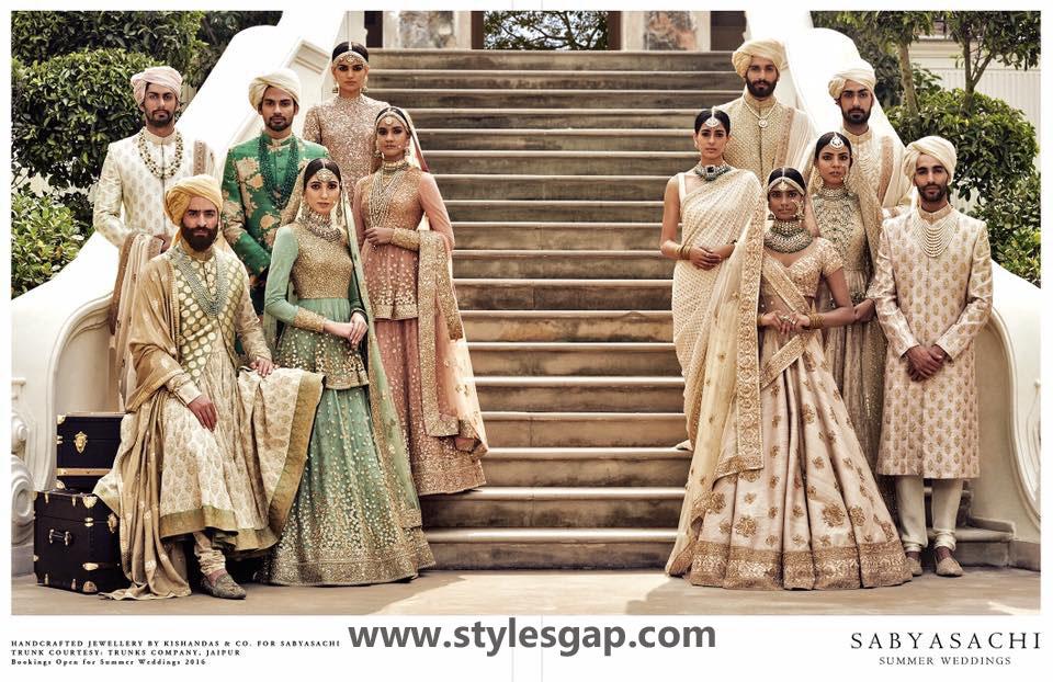 Sabyasachi Mukherjee Latest Wedding Dresses 2016-2017 Collection. Lehengas, Sarees (22)