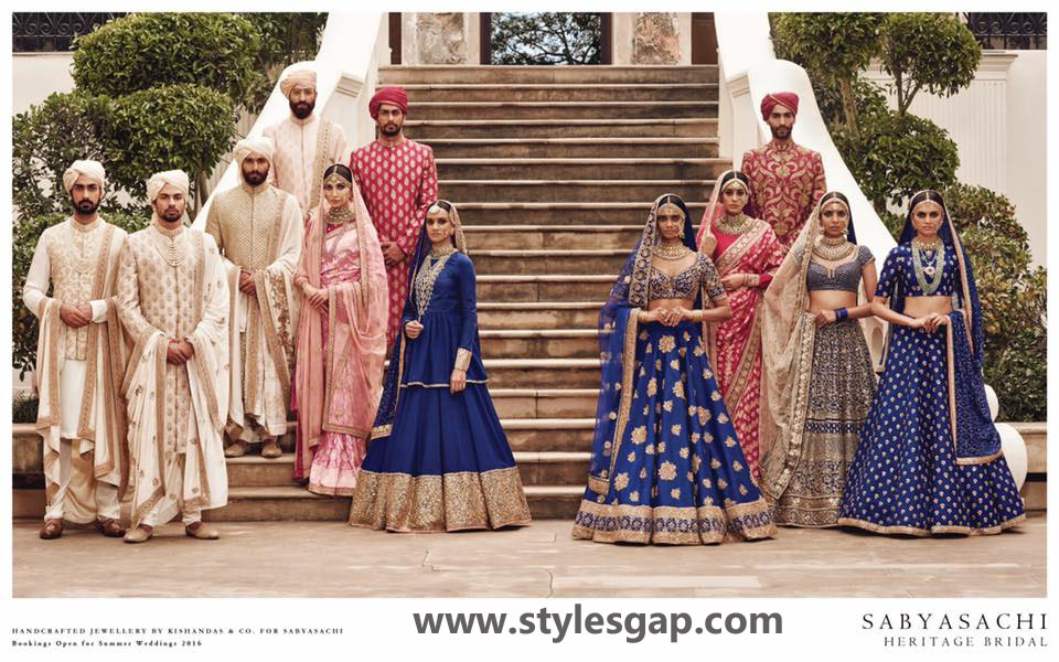 Sabyasachi Mukherjee Latest Wedding Dresses 2016-2017 Collection. Lehengas, Sarees (23)