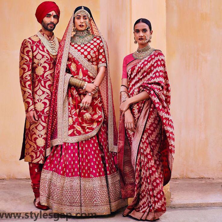 Sabyasachi Mukherjee Latest Wedding Dresses 2016-2017 Collection. Lehengas, Sarees (30)