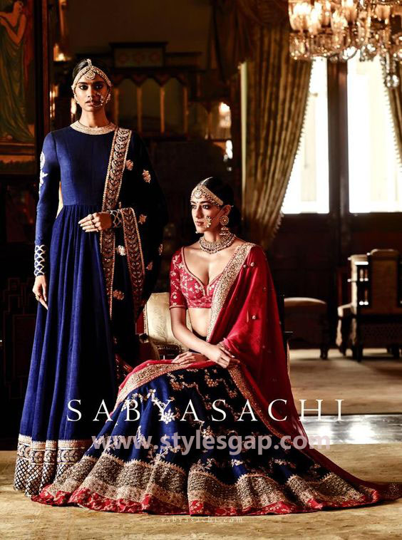 Sabyasachi Mukherjee Latest Wedding Dresses 2016-2017 Collection. Lehengas, Sarees (34)
