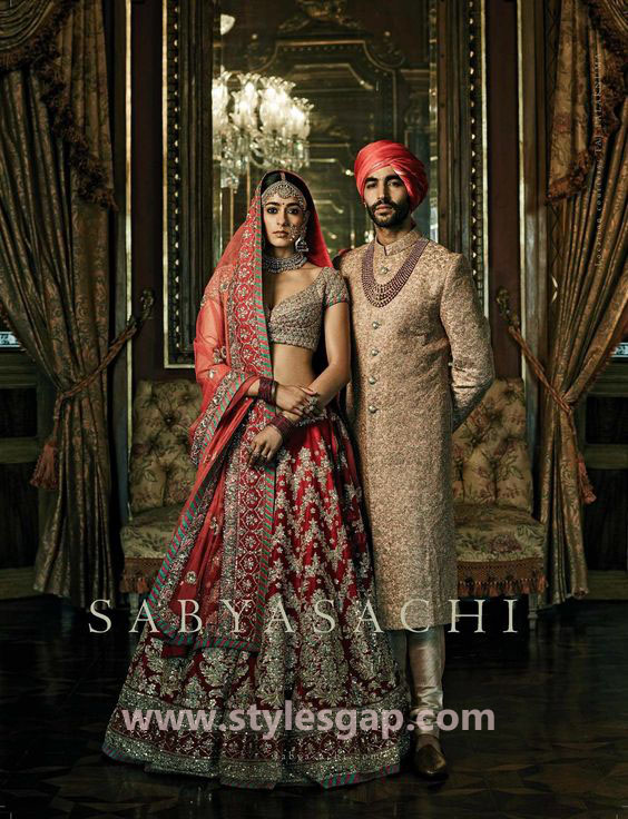 Sabyasachi Mukherjee Latest Wedding Dresses 2016-2017 Collection. Lehengas, Sarees (37)