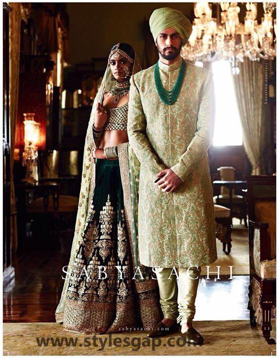 Sabyasachi Mukherjee Latest Wedding Dresses 2016-2017 Collection. Lehengas, Sarees (40)