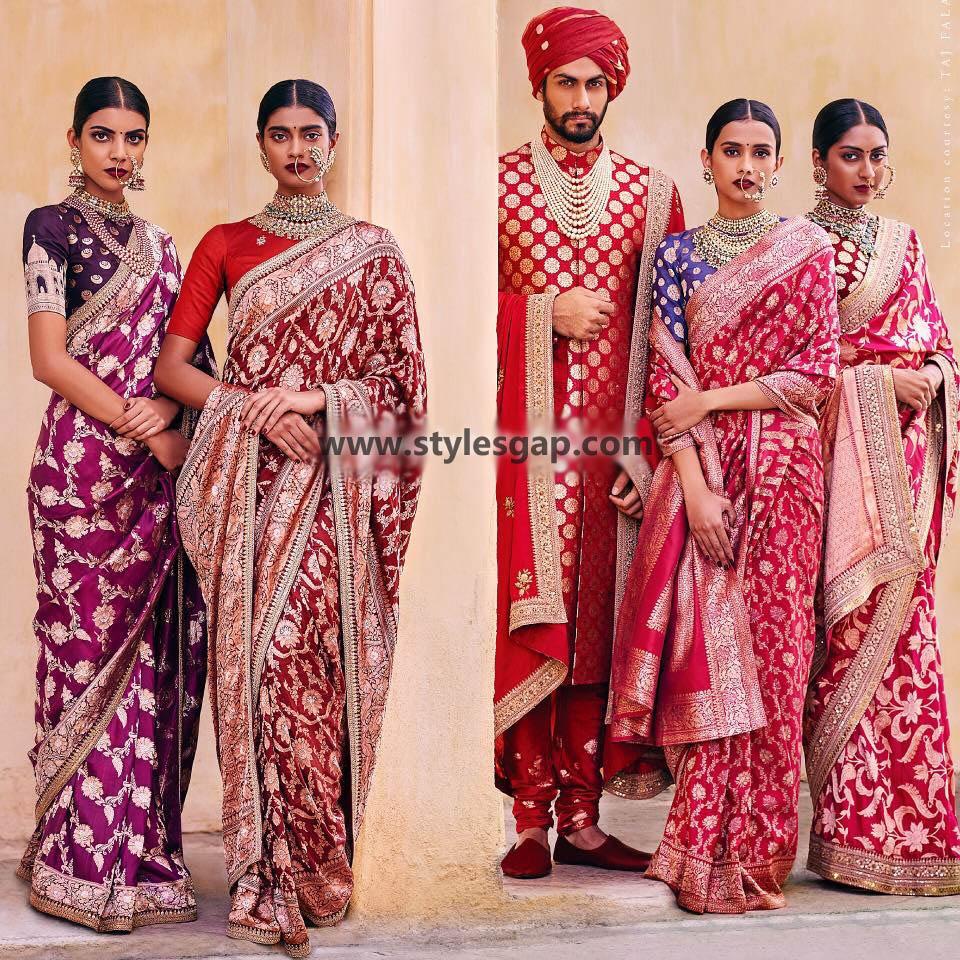Sabyasachi Mukherjee Latest Wedding Dresses 2016-2017 Collection. Lehengas, Sarees (43)