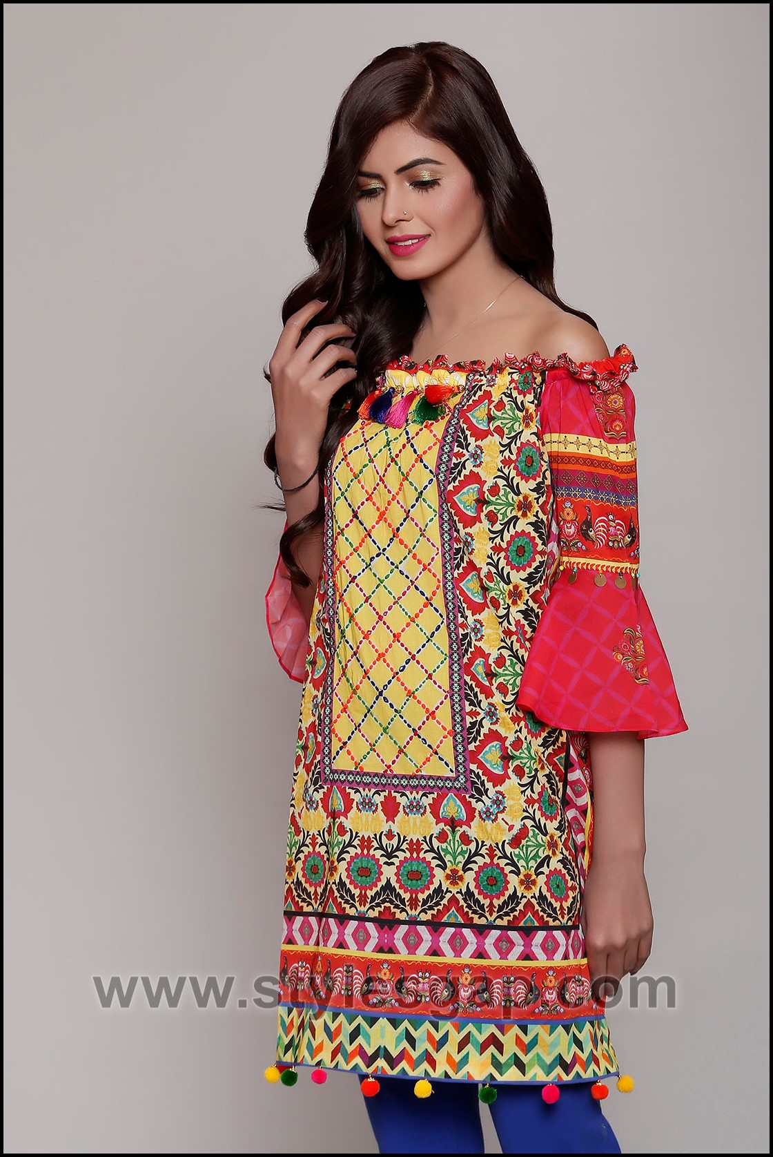 Latest Fashion Trend In Saree: Summer Fashion Lawn Kurti Designs Trends Latest Collection