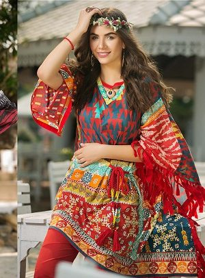 Summer Fashion Lawn Kurti Designs Trends Latest Collection 2018-2019