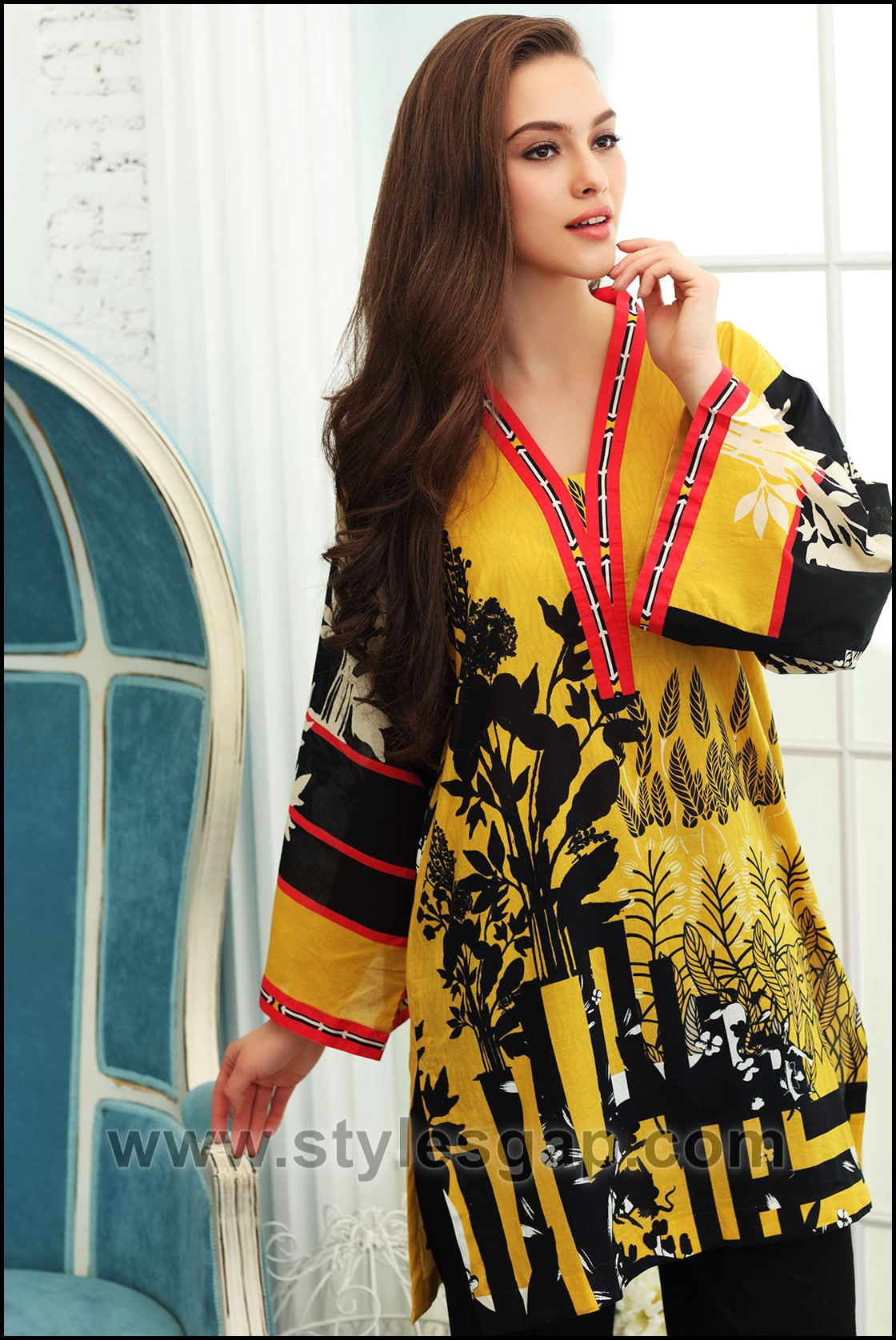 422b1289f27 Summer Fashion Lawn Kurti Designs Trends Latest Collection 2019-2020