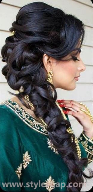 Indian engagement hairstyles