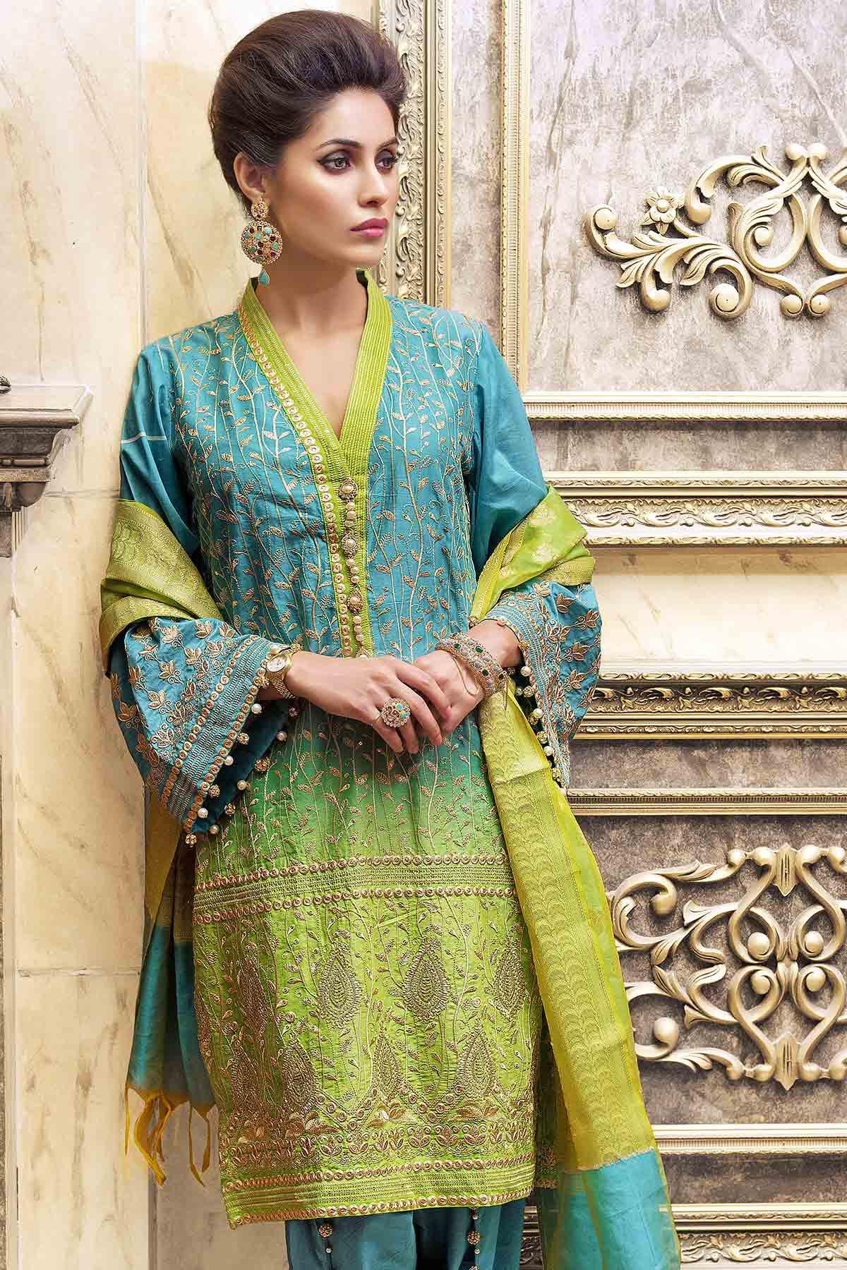 defb142a12 Gul Ahmed Festive Eid Collection 2017-2018 Lawn, Silk, Net & Chiffon  Dresses (1)