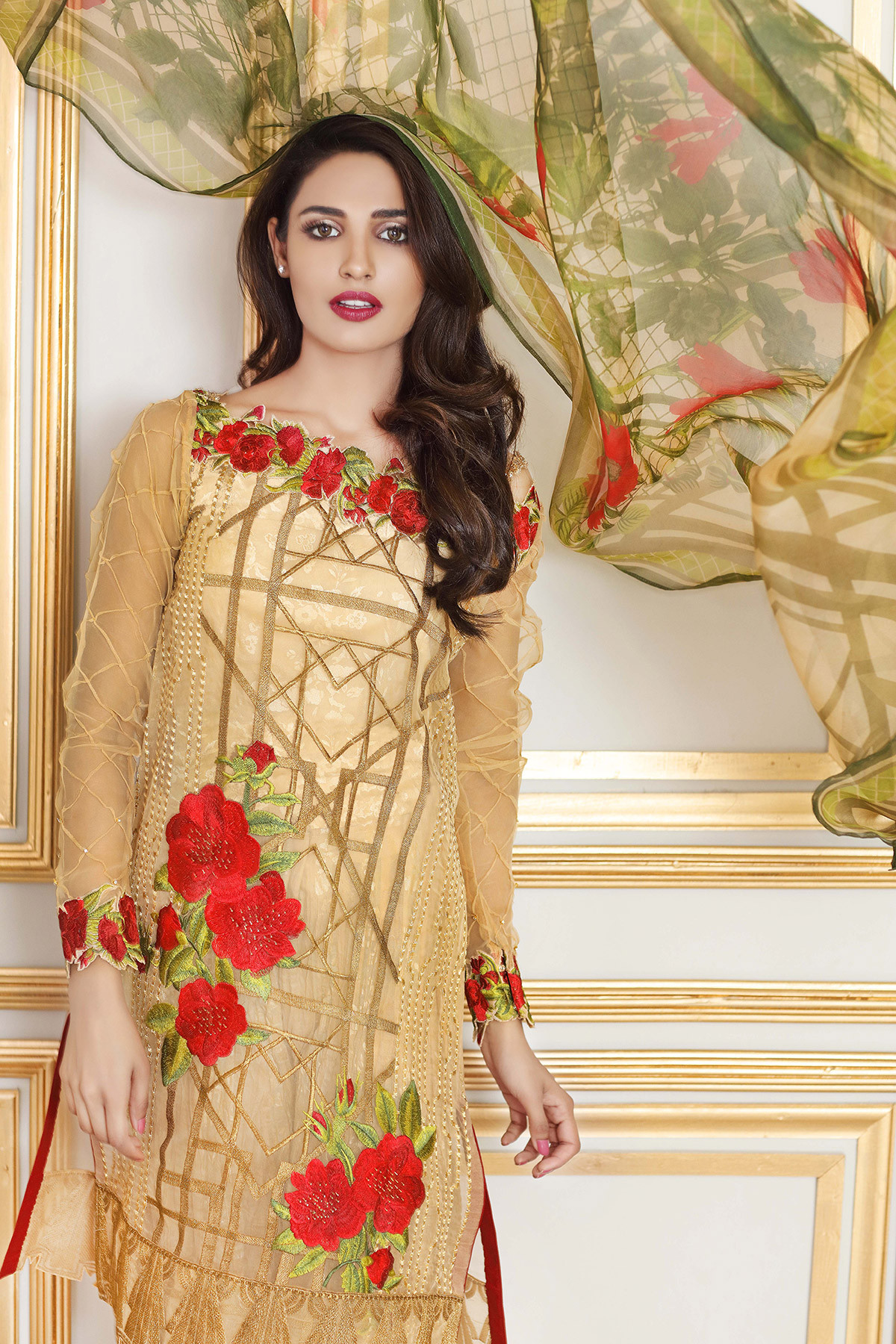 Gul Ahmed Festive Eid Collection 2017-2018 Lawn, Silk, Net & Chiffon Dresses (10)