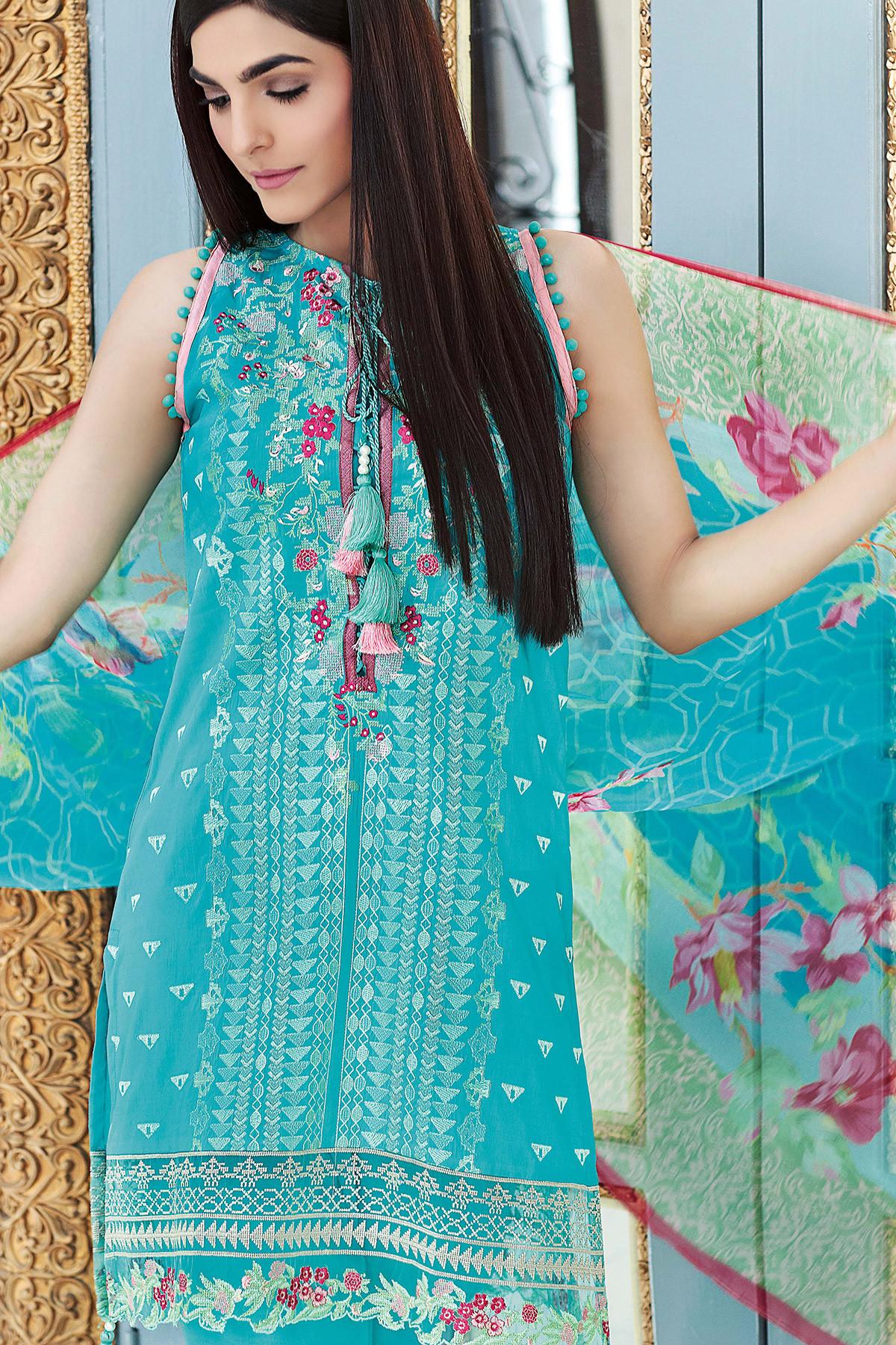 Gul Ahmed Festive Eid Collection 2017 18 Lawn Silk