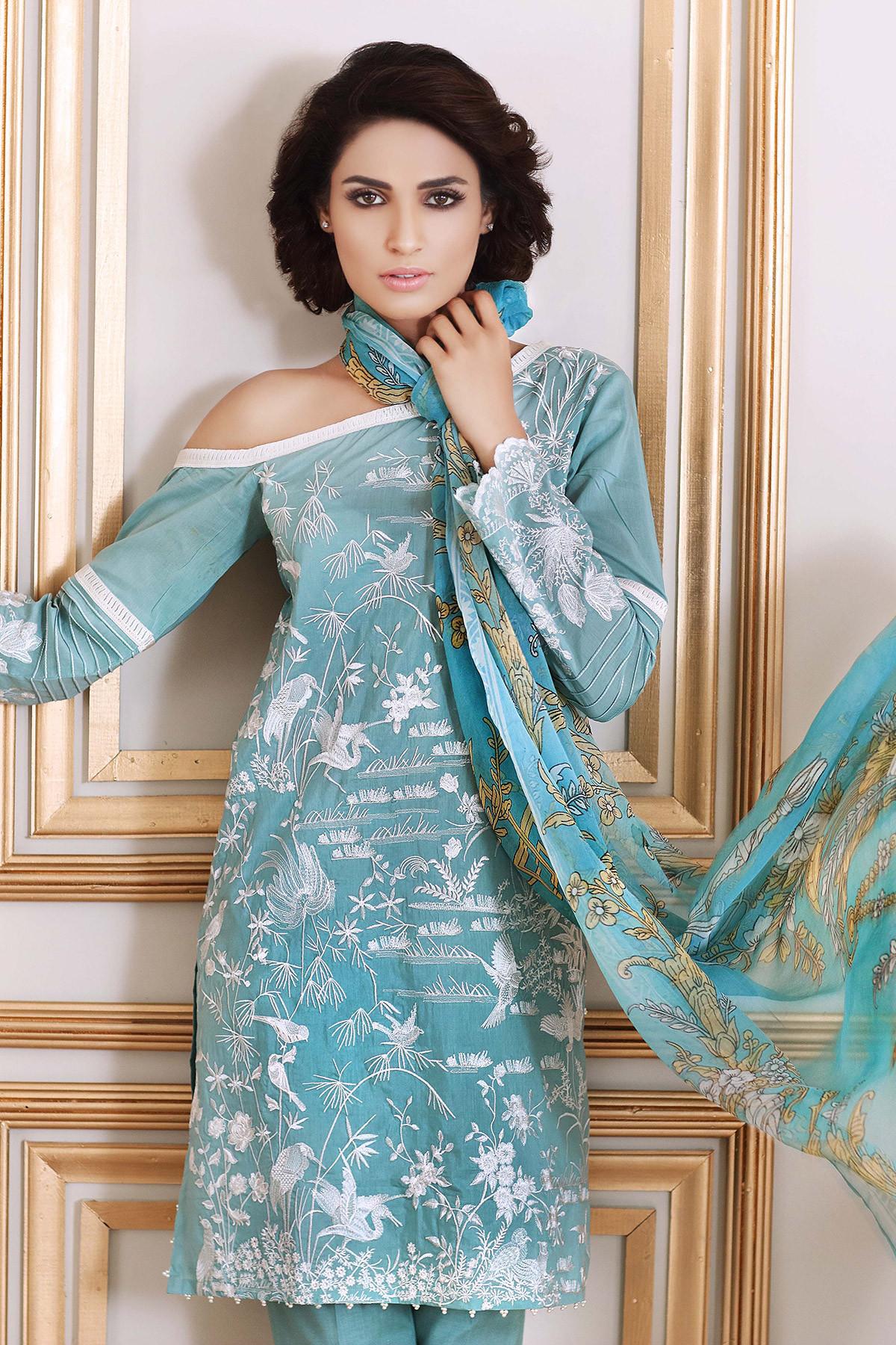Gul Ahmed Festive Eid Collection 2017 18 Lawn Silk Amp Chiffon Dresses