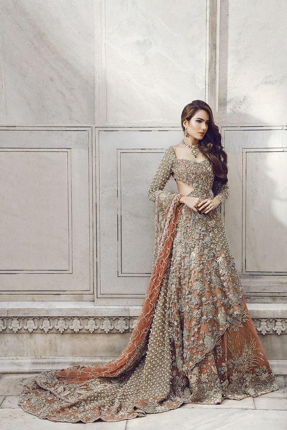 Indian pakistani bridal anarkali suits gowns collection for Pakistani designer wedding dresses