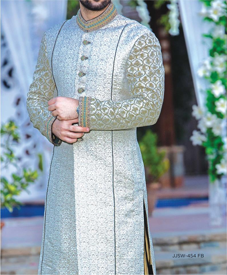 J. Latest Men Sherwanis Designs 2017-18 Groom Wedding Collection (13)