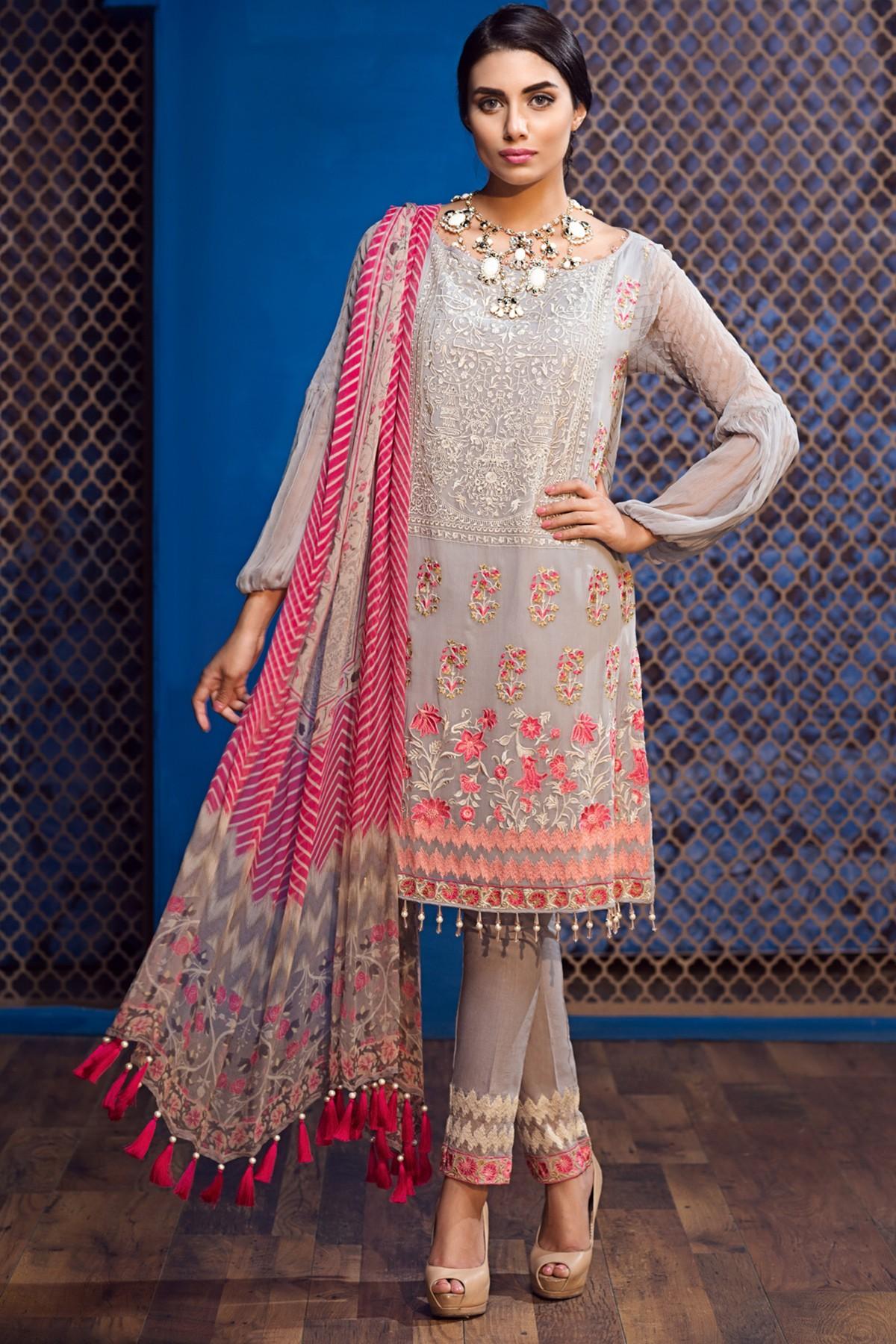 Khaadi Lawn Chiffon Eid Dresses Designs Collection 2017-2018 (19)