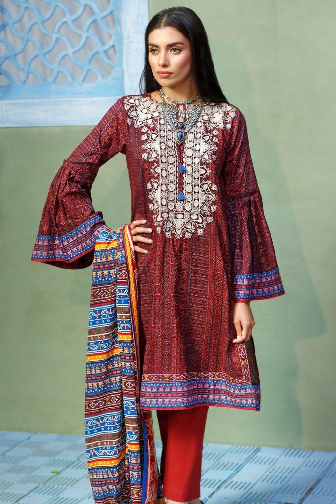ac81ad02cd Khaadi Lawn Chiffon Eid Dresses Designs Collection 2018-2019 ...