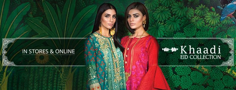 Khaadi Lawn Chiffon Eid Dresses Designs Collection 2017-2018...