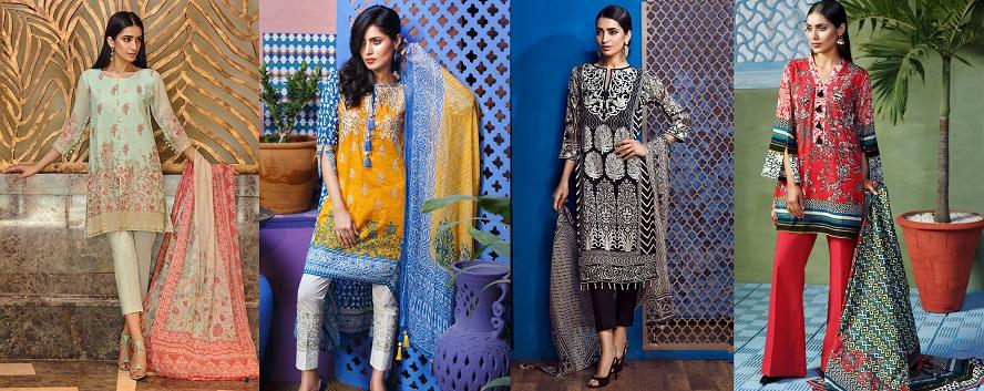 Khaadi Lawn Chiffon Eid Dresses Designs Collection 2017-2018