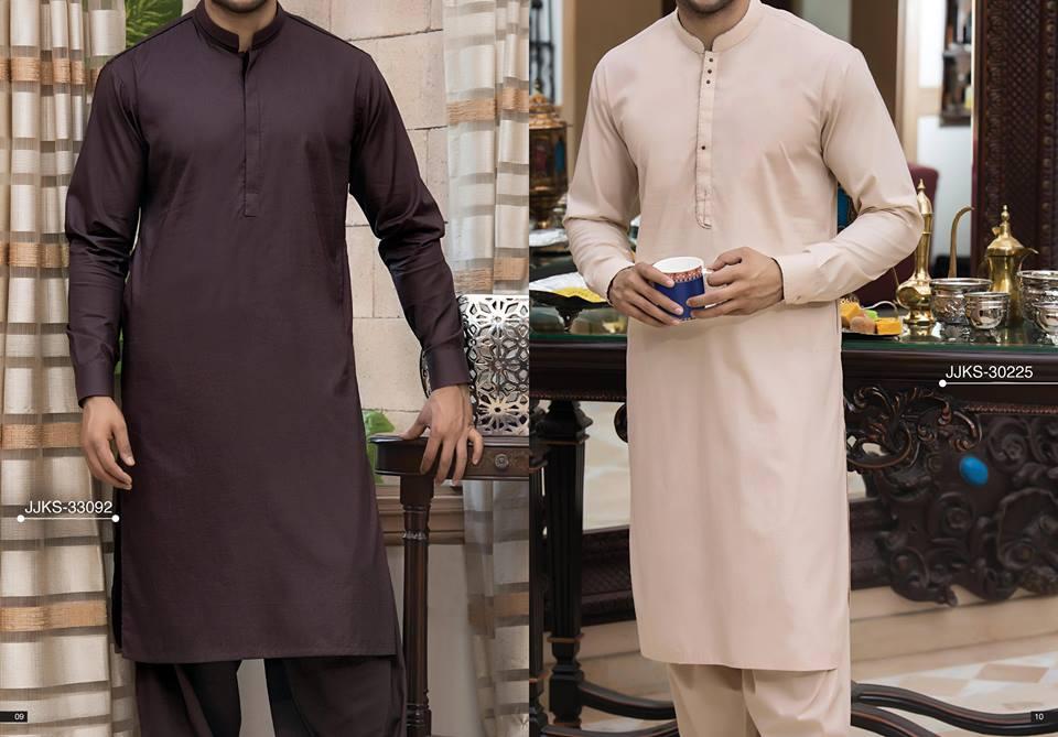 Latest J. Eid Kurta Shalwar Kameez Designs Collection 2017-2018 (23)