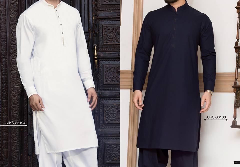 Latest J. Eid Kurta Shalwar Kameez Designs Collection 2017-2018 (24)