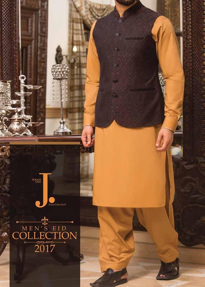 Latest J. Eid Kurta Shalwar Kameez Designs Collection 2017-2018 (27)