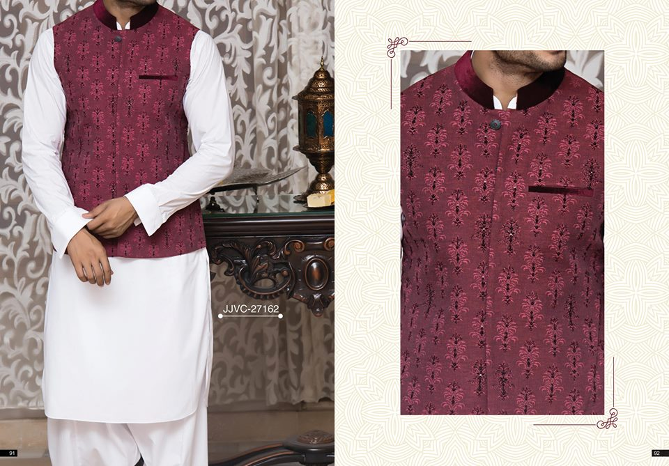 Latest J. Eid Kurta Shalwar Kameez Designs Collection 2017-2018 (33)