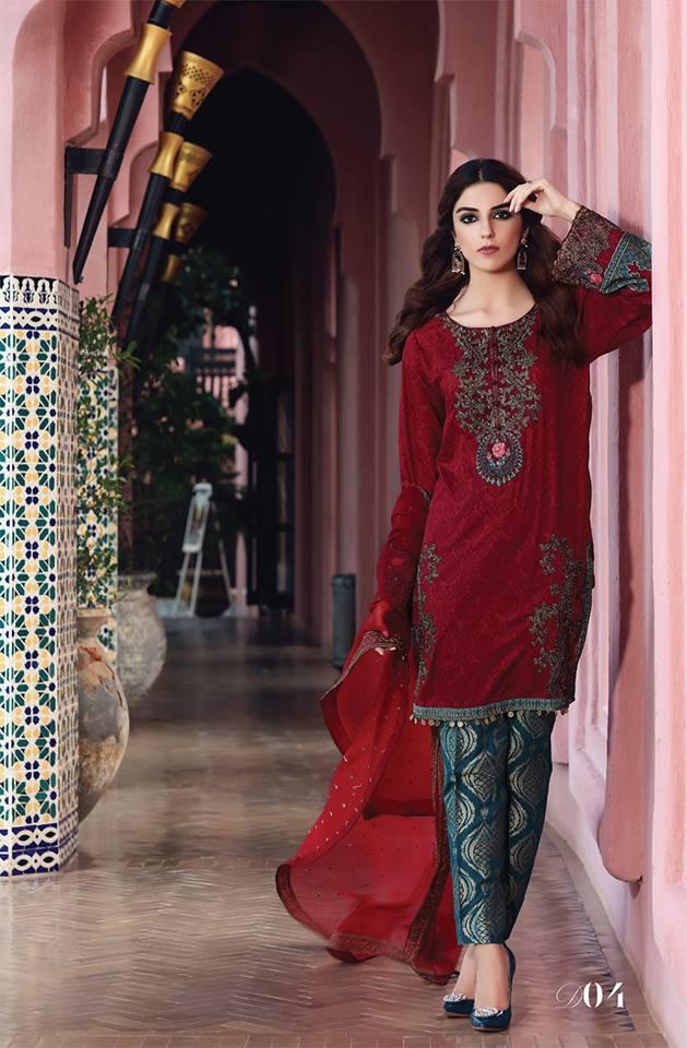 Latest Maria B Eid Lawn Dresses Designs Collection 2017-2018