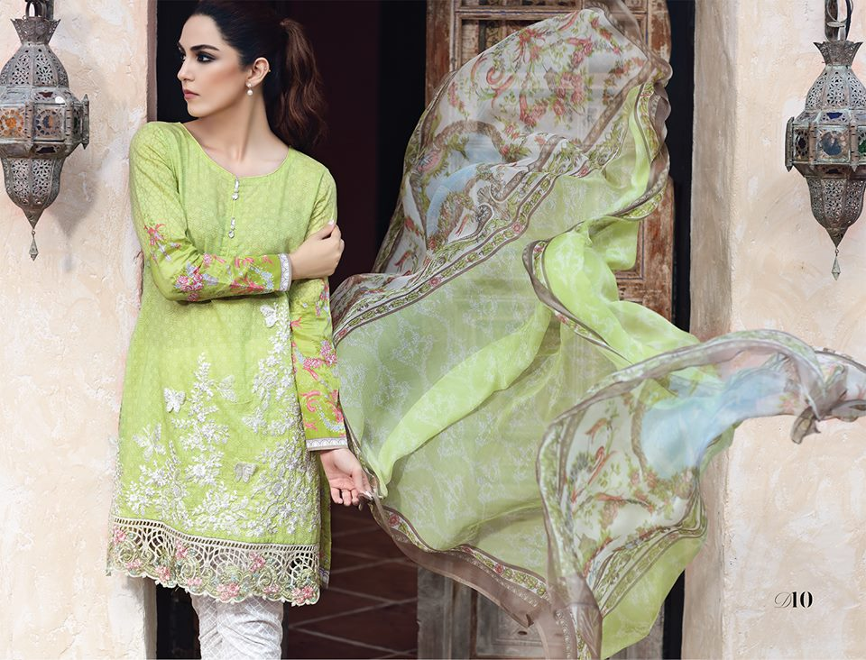 Latest Maria B Eid Lawn Dresses Designs Collection 2017-2018 (11)