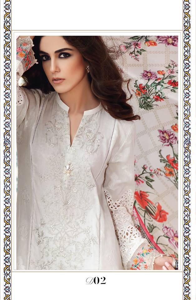 Latest Maria B Eid Lawn Dresses Designs Collection 2017 2018