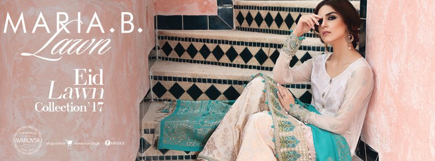 Latest Maria B Eid Lawn Dresses Designs Collection 2017-2018 (8)