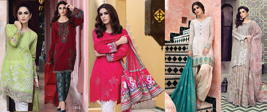 Latest Maria B Eid Lawn Dresses Designs Collection 2017-2018