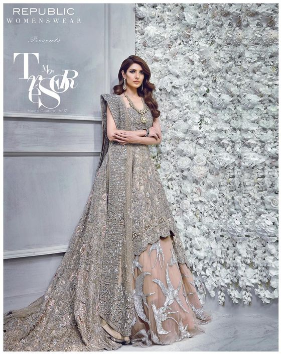 Latest Designs Of Wedding Gowns: Maxi Style Anarkali Dresses Collection Frock Designs 2018-2019