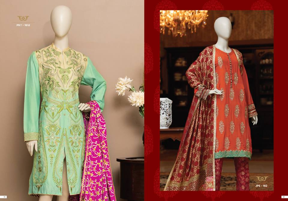 Rang ja formal eid dresses lawn collection 2016 - Junaid Jamshed Eid Dresses For Women Girls Festive 2017 18