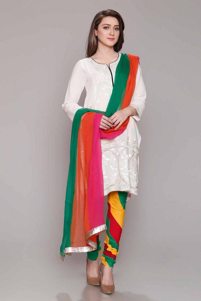 Rang Ja Trendy Eid Colorful Kurti Dresses 2018 2019 Collection
