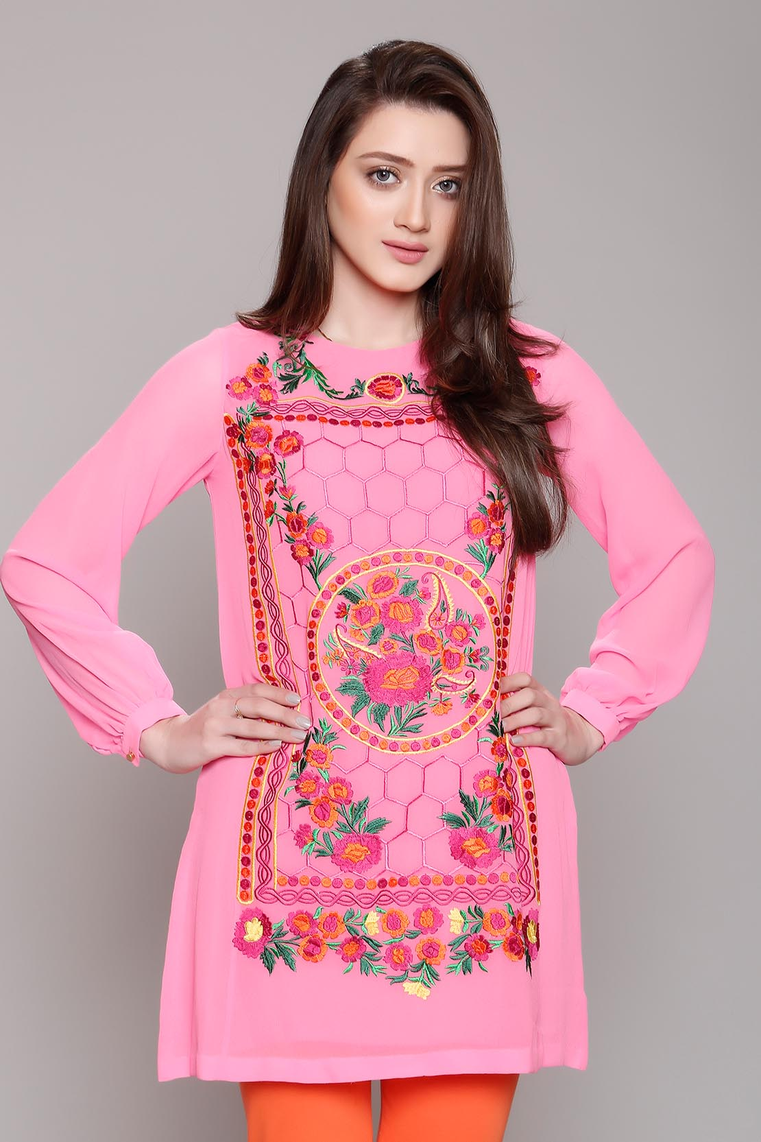 Rang Ja Embroidered Eid Colorful Kurti Dresses Collection (9)
