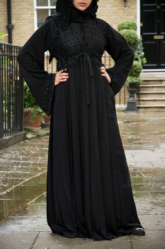 6891bf7437a Fancy Lace Embroidered Abaya Designs Latest Collection 2018-2019 ...