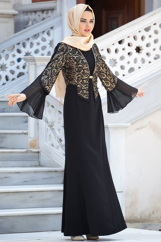 341e4747d31 Fancy Lace Embroidered Abaya Designs Latest Collection 2018-2019 (14 ...