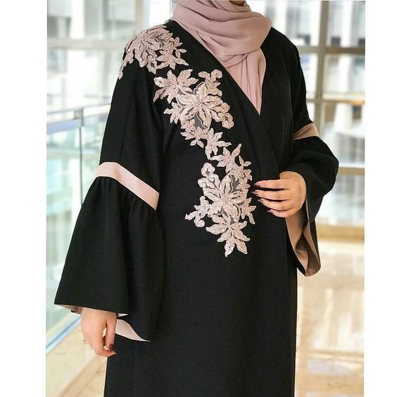 a9d94cf4263 Fancy Lace Embroidered Abaya Designs Latest Collection 2018-2019 (19 ...