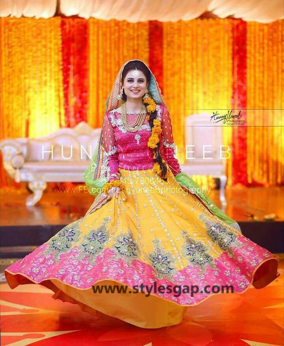 Mayun Bridals Makeup Looks & Dresses Designs & Trends (11)