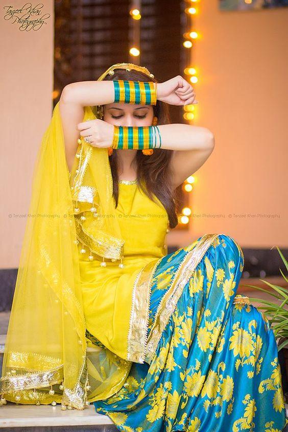 Mayun Bridals Makeup Looks & Dresses Designs & Trends (15)