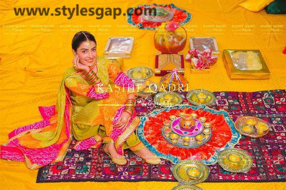 Mayun Bridals Makeup Looks & Dresses Designs & Trends (17)