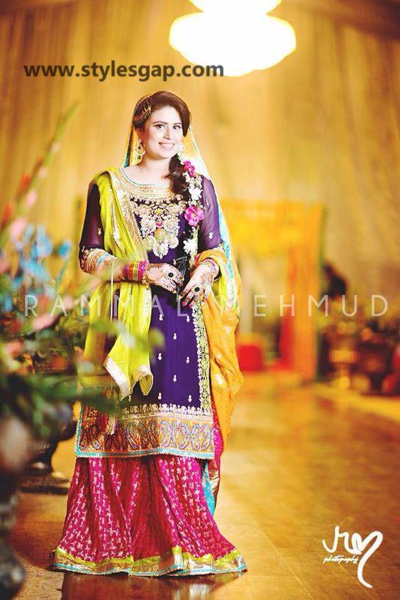 Mayun Bridals Makeup Looks & Dresses Designs & Trends (19)