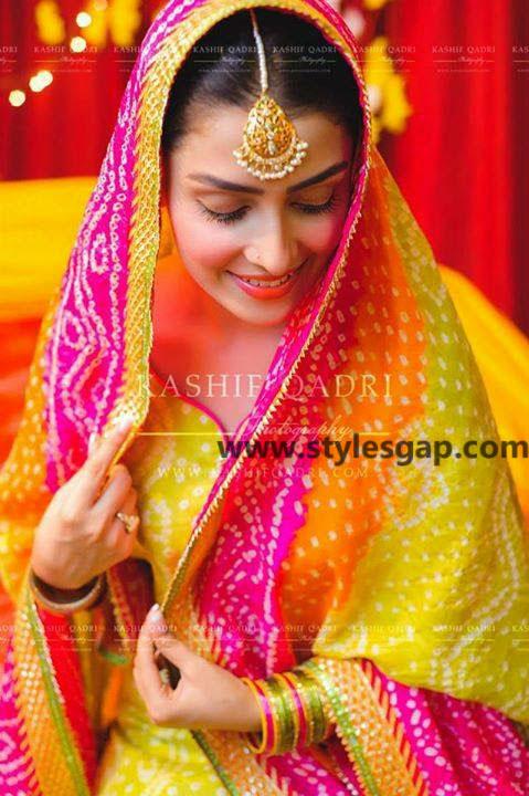 Mayun Bridals Makeup Looks & Dresses Designs & Trends (25)