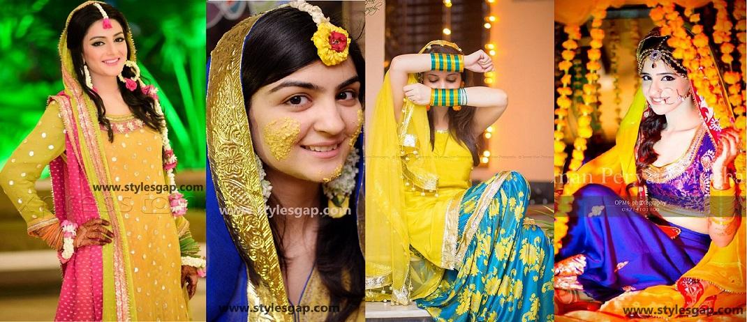Mayun Bridals Makeup Looks & Dresses Designs & Trends (7)