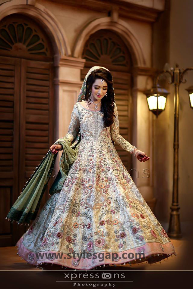 Nikkah Day Bridal Wedding Dresses Designs. (20)