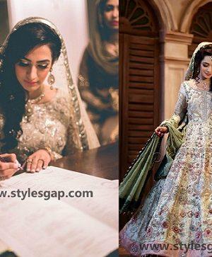 Nikkah Day Bridal Wedding Dresses Designs.