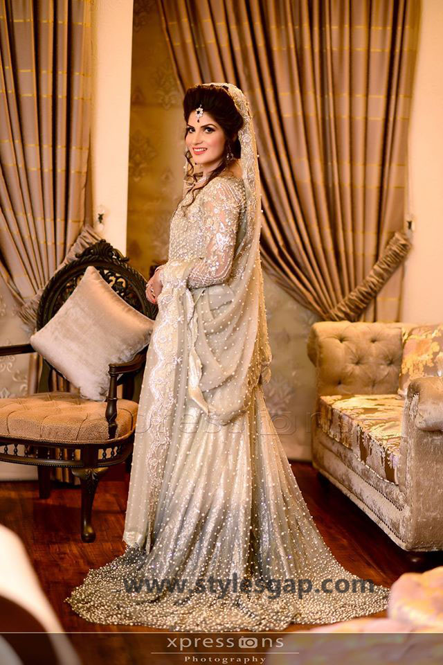 Nikkah Day Bridal Wedding Dresses Designs. (34)