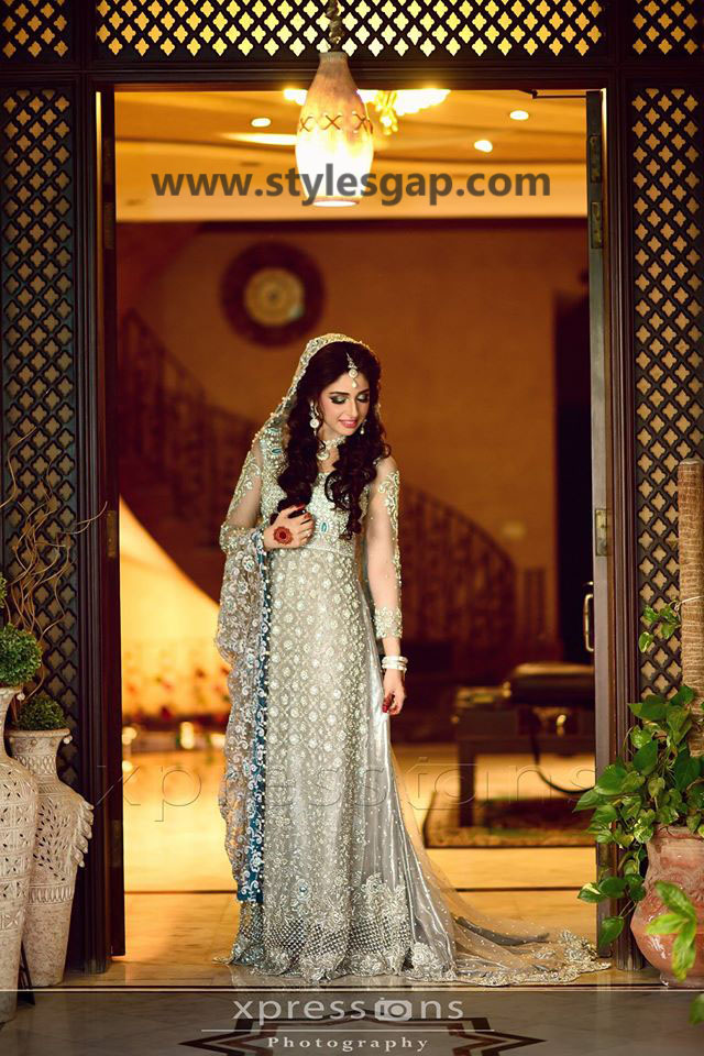 Nikkah Day Bridal Wedding Dresses Designs. (36)